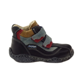 Antylopa Pantofi pentru copii Velcro, antilopă albastră