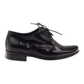 Negru Pantofi pentru copii negri lacuite Gregors 429
