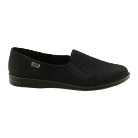 Black slip-on papuci Befado 001M060 negru