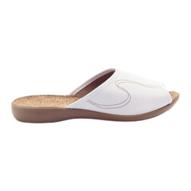 Pantofii de papuci de la Befado flip 254d058 alb