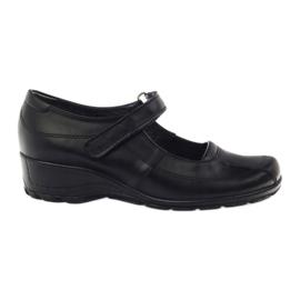 Pantofi de platformă confortabilă Angello 371 negru