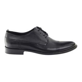 Negru Pantofi negri clasic Badura pentru bărbați 7599