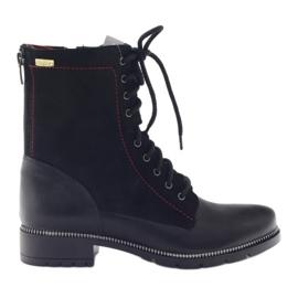Bocanci cizme pentru femei Kazkobut 2809 negru