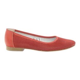 Roșu Balerina pentru femeile Angello mesh