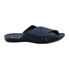 Pantofi pentru bărbați Adanex 20308 albastru marin bleumarin