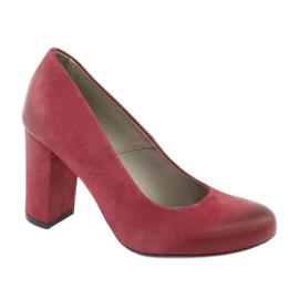 Pantofi clasic pentru femei Edeo 2119 burgundă