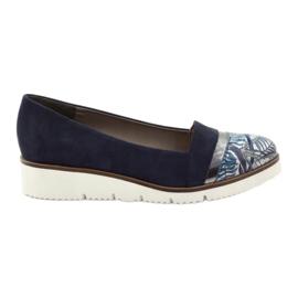 Edeo Pantofi LORDSY confortabil bleumarin albastru