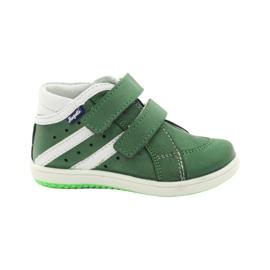 Pantofi din piele Hugotti verde Velcro
