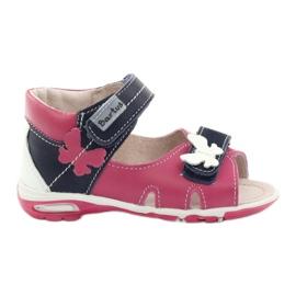 Sandale pentru fete - fluture Bartuś roz