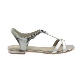 Sandale pentru femei EDEO wz.3087 silver gri