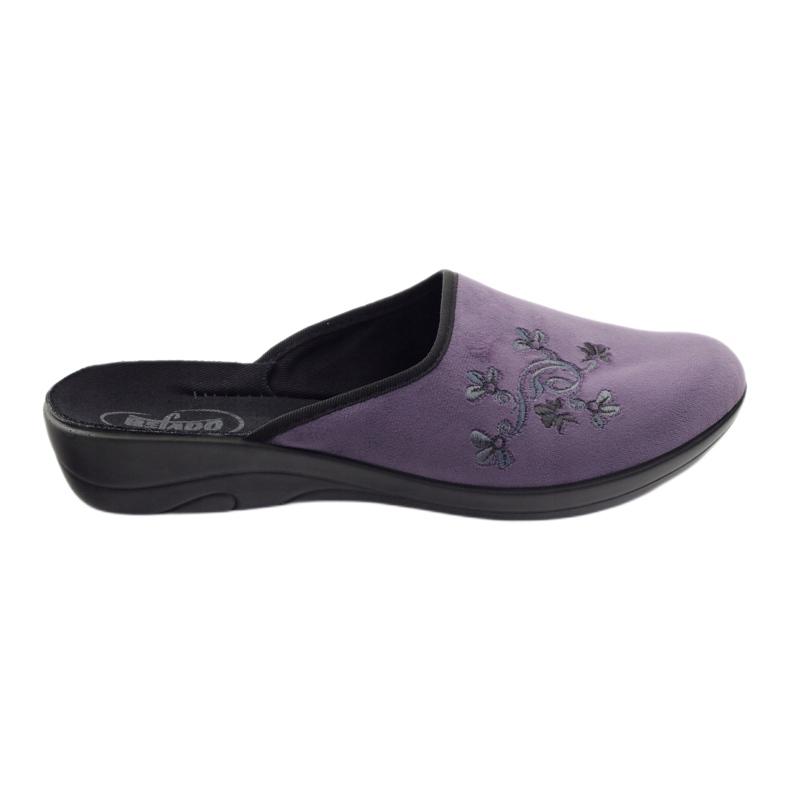 Pantofi de papuci pentru femei de la Befado 552D006 violet multicolor