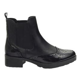 Caprice cizme cizme Jodhpur cizme 25405 negru