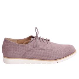 Moccasine pentru femei tufted violet T297 Purple
