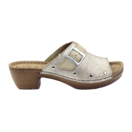 Papuci clip INBLU BL061 argintiu bej