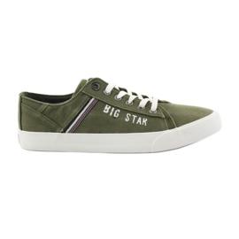 Big Star verde Pantofi mari de stea 174315 adidași kaki
