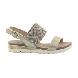 Pantofi pentru femei sandale Caprice 28604 galben