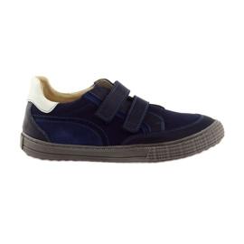 Bleumarin Pantofi pentru băieți, Velcro Bartuś, albastru marin