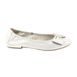 Pantofi de balerina Caprice 22111 argint gri