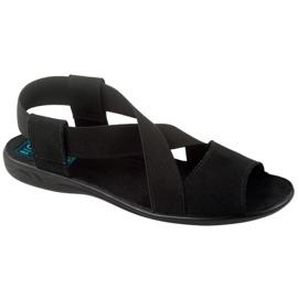 Sandale negre pentru femei Adanex 17498 negru