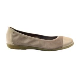 Caprice pantofi femei balerine 22152 din piele maro