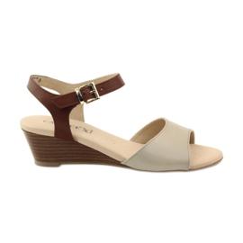 Caprice Capriciu sandale pentru femei din piele 28213 maro