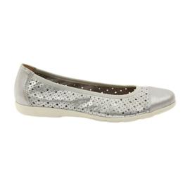 Caprice pantofi femei balerine 22151 piele gri