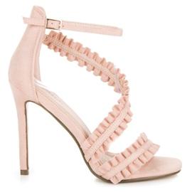 Seastar Sandale cu tocuri inalte roz