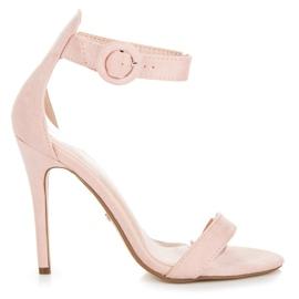 Seastar roz Sandale fixate cu o cataramă