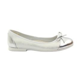 American Club alb Pantofi de ballerină cu arcul american