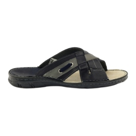 Naszbut Pantofi din piele 055 albastru bleumarin