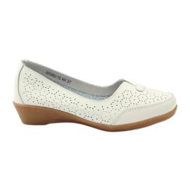 Pantofi din piele Vinceza mocasini alb