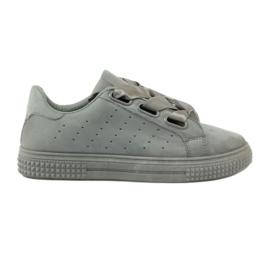 McKey Pantofi de pantofi legați cu o panglică gri