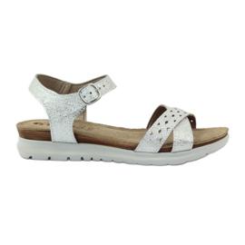 Sandale inlay Inblu 038 de argint gri
