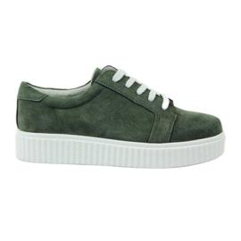 Pantofi de piele din piele Filippo 036 verde