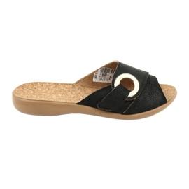 Negru Befado femei pantofi pu 265D005