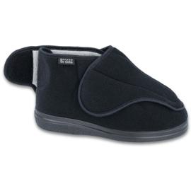 Befado bărbați pantofi pu orto 163M002 negru