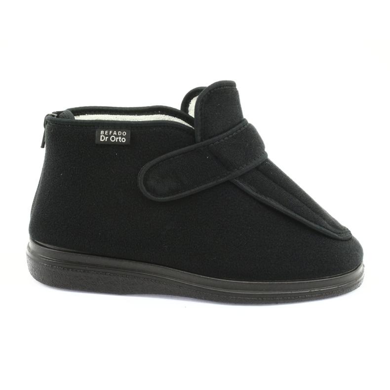 Befado femei pantofi pu orto 987D002 negru