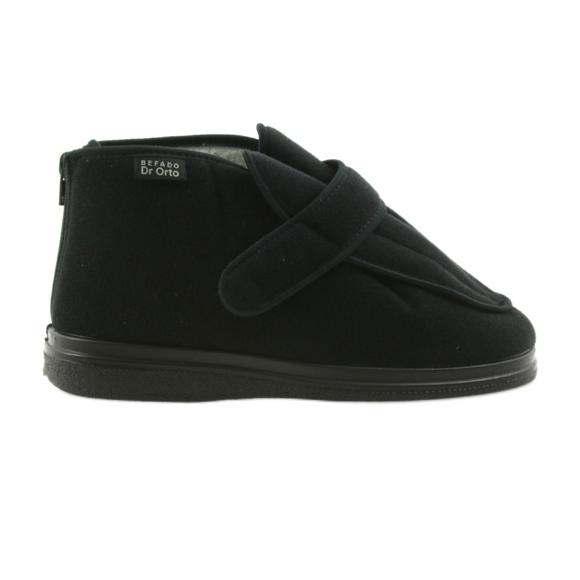 Befado bărbați pantofi pu orto 987M002 negru