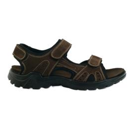 American Club maro Sandale pentru bărbați din piele americană