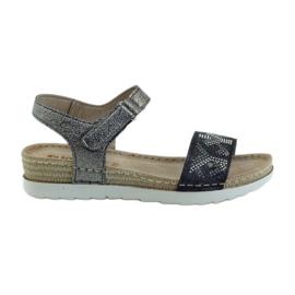 Sandale confortabile INBLU argint-grafit gri