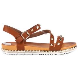 Anesia Paris maro Margele sandale cu bastoane