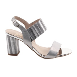 Gri Sandale pentru femei pe stâlpul de argint Gamis 3390