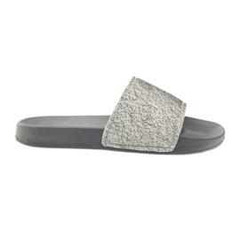 Profesioniști papuci Big Star sclipici gri