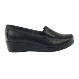 Angello 1720 mocasine pantofi negru