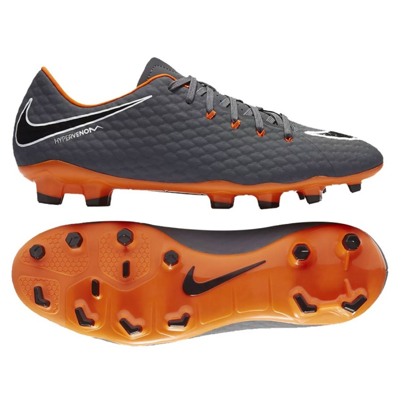 Pantofi de fotbal Nike Hypervenom Phantom 3 Academy Fg M AH7271-081 gri gri