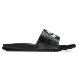 Negru Nike Benassi Flip Just Do It Imprimare 631261-013