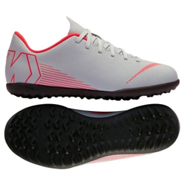 Nike Mercurial VaporX 12 pantofi de fotbal pentru cluburi Tf Gs Jr AH7355-060