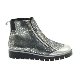 Boots cizme izolate Bartek negru-argintiu