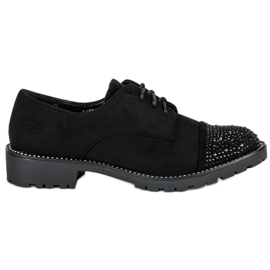 Bello Star negru Pantofi de piele elegant