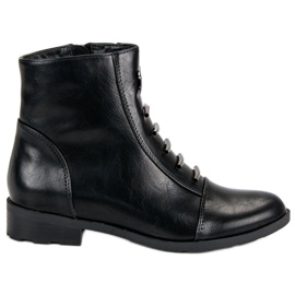 Filippo Casual Black Ghete Boots negru